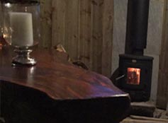 wood burning stove and free logs